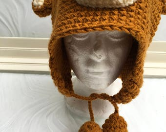 Hand Crochet Monkey Hat