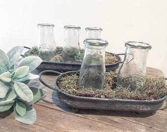 Vintage Inspired  Milk bottle Tray