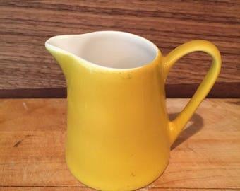 Vintage Syralite gold creamer/Syralite small pitcher by Syracuse