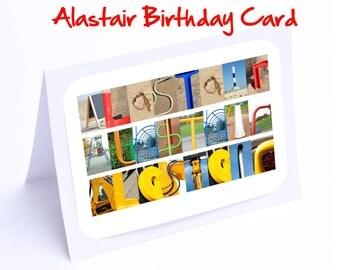 Alastair Personalised Birthday Cards