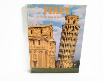 Vintage Book, Italy in Pictures, Souvenir GuideBook, Italian Landmarks, Alps and Dolomites, Eternal Rome, Divine Florence, Gentle Perugia
