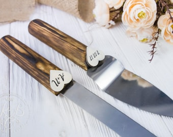 Rustic Cake Knife Burlap And Lace Wedding Cake Serving Set