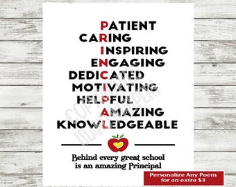 Principal Appreciation, Principal Gift, Principal Print, Principal Thank You Gift, Christian Principal Gift, Instant Download