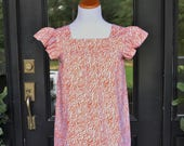 Women's top the Low Country top in orange animal custom made by Collyn Raye