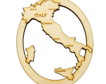 Italy Ornament - Italy Christmas Ornament - Italy Souvenir - Travel Souvenir - Personalized Free