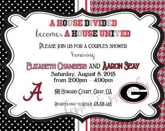 UGA and UA House Divided Invitation