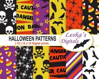 Halloween Digital Paper, Halloween Scrapbooking Paper, Halloween Backgrounds, Halloween Patterns, Halloween Patterned Paper, Paper Pack