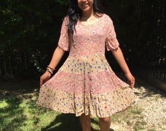 Bila rayon dress,medium,long, pink,yellow,purple, dress