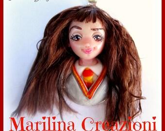 Cameo Hermione Granger Harry Potter fan art ooak