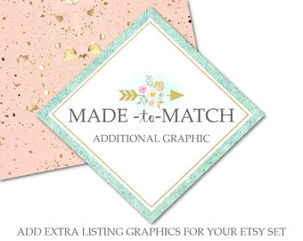 Listing Graphic-Made to Match Additional Listing Graphic to Match Premade Sets in the Shop-For Previously Purchased From the Shop