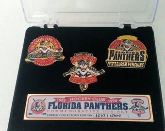 Florida Panthers 1993 Commemorative Pin Set. Limited Collectors Edition.  6507/15000