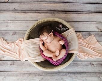Magenta newborn baby pod photo prop,Purple newborn photo cocoon,Pink baby pod,Baby Cocoon,Mermaid photo prop,Girly photo prop