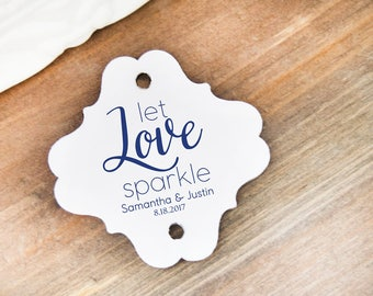 18 Wedding Sparkler Tags Send Off Let Love Sparkle Party