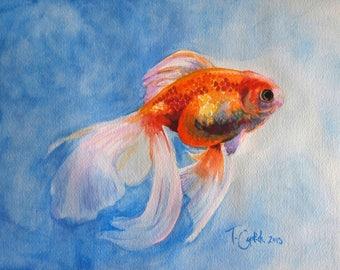 Goldfish Original Watercolour Painting