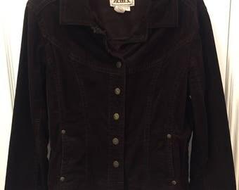Dark Brown Corduroy Jacket