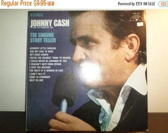Save 30% Today Vintage 1970 Vinyl LP Record The Singing Story Teller Johnny Cash Excellent Condition 8951