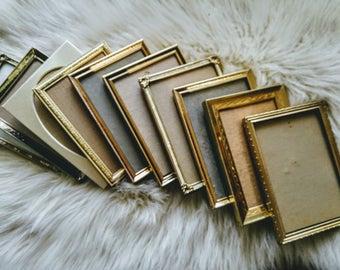 S A L E Vintage Frames Photo Picture Golden Silver Set Of