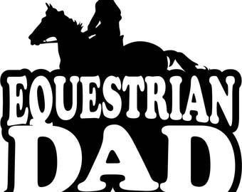 Equestrian Dad Boy T Shirt/ Equestrian Dad Shirt/ Equestrian Dad Clothing/ Equestrian Dad Gift/ Equestrian Dad/ Male Equestrian Rider