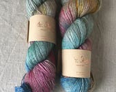 hand-dyed Merino silk yak yarn, made from natural raw materials, autumn flower
