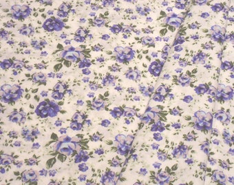 "a beautiful cut of ""Violets"" cotton fabric"