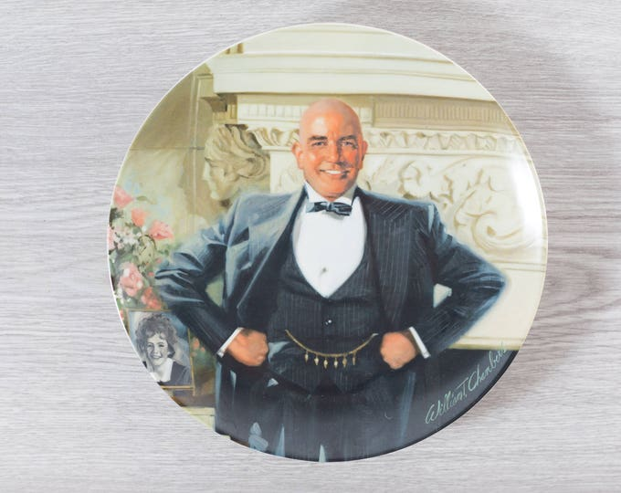 Daddy Warbucks Plate / Edwin M. Knowles Limited Edition Collector Plate / by William Chambers