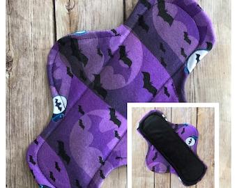 "10"" Flannel Batman Signal Cloth Menstrual Pad - Mama Cloth. Bat Signal"
