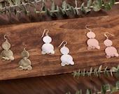 The Ashanti Earrings, Gold Earrings, Silver Earring, Copper Earrings, Dangle Earrings, African, Jewelry, Geometric Earrings, Gifts for Her,