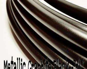 "Graphite Polypro Hula Hoop--metallic 3/4"" OD"