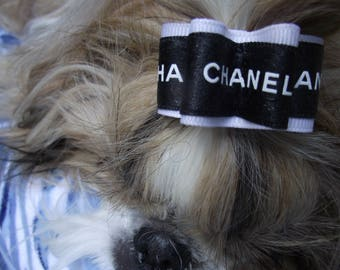 "Authentic Chanel ribbon dog hair bow 7/8"" LAST ONE"