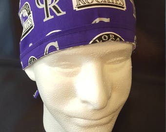 Colorado Rockies MLB Baseball Tie Back Surgical Scrub Hat