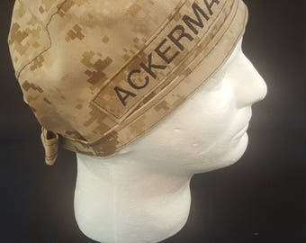 MARPAT US Marines Camo Tie Back Surgical Scrub Hat