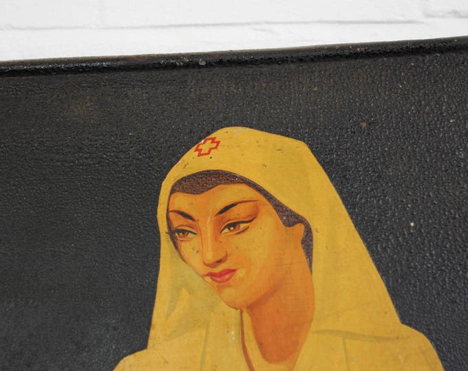 Early 20th Century French Hand Painted Aspirine Sign
