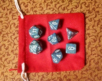Deep Seas - 7 Die Polyhedral Set with Pouch