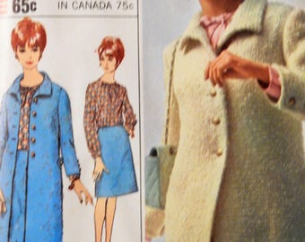 Simplicity 6401 Designer Fashion coat, blouse and skirt pattern Uncut Size 12