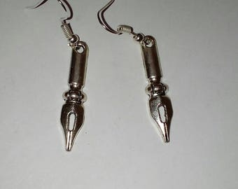 Ink pot Quill earrings