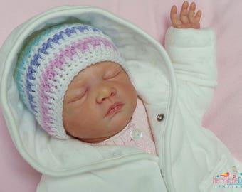 CROCHET PATTERN - Ice Cream Hat Crochet Pattern - Baby Hat Crochet Pattern - 5 sizes! Newborn - 12 months! Crochet Baby Beanie Pattern  Pdf