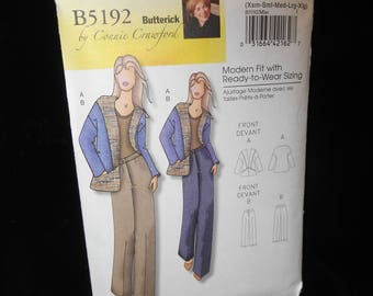 Misses Jacket Pants Butterick B5192 Connie Crawford Womens Jacket Pants Multi Sized Custom Fit