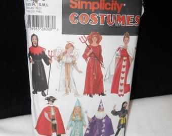 Boys Ninja Wizard Pirate Devil Simplicity 5930 Costumes Girls Princess Angel Size Small Medium Large