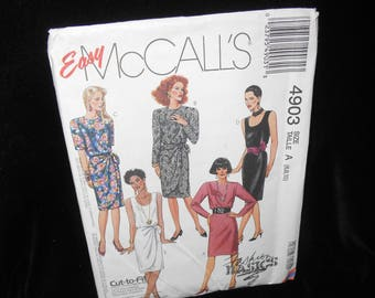 McCalls 4903 Misses Womens Dress Sizes 6-10 Sarong Look