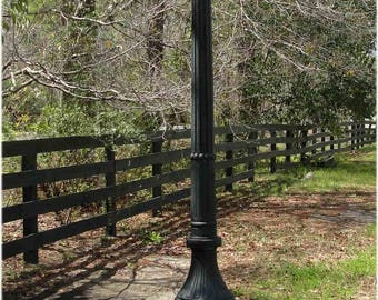 Outdoor 5 Arm Pole Light 9.5' Tall Victorian Replica Vintage Commercial or Home
