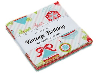 Vintage Holiday - Bonnie & Camille - Moda - 42 Pieces - Charm Pack - 55160PP
