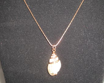 Vintage 18KGP necklace with shell