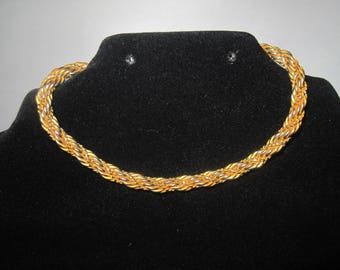 "24"" Gold Tone Necklace with 7"" bracelet"