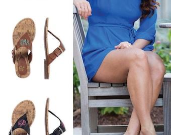 Women's sandals / Personalized women's sandals / Black sandals / Brown sandals