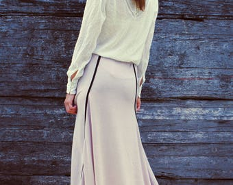 Long Maxi  Light Pink Boho Skirt