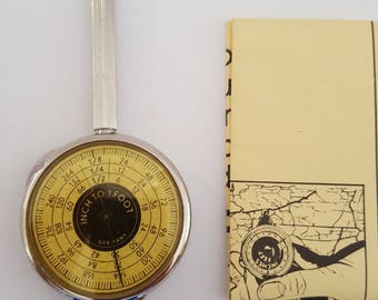 Vintage early 1980's Brookstone No.2962 Map Reader, opisometer. Made in Germany