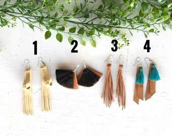 Leather earrings * boho * gypsy