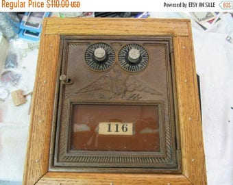 Handcrafted Vintage Post Office Mail Box Bank