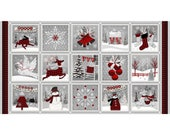 """Holiday Homecoming Panel 24"""" x 44""""~ 6758P-89Christmas Cotton Fabric by~Henry Glass~Fast Shipping HC389"""