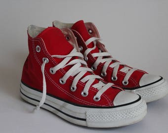 Red Chuck Taylor High Tops  5.5 